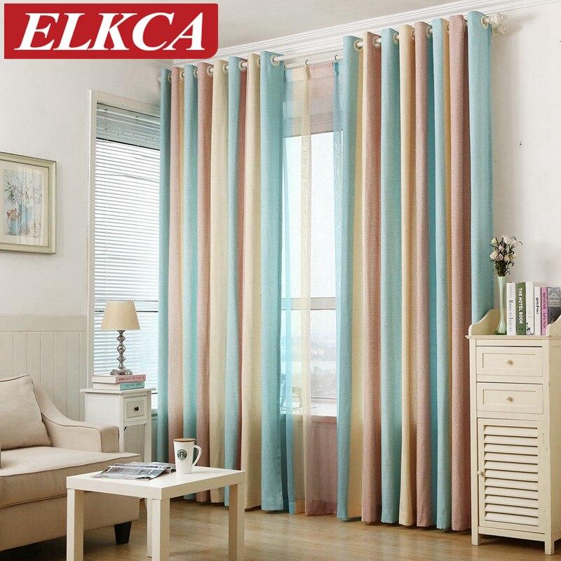listrado impresso janela cortinas para o quarto de crianas fantasia cortinas modernas para sala de estar