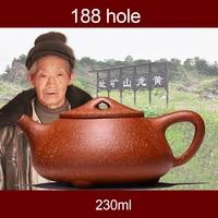 Dragon sand pot teapot handmade gift custom Shipiao pot 188 hole