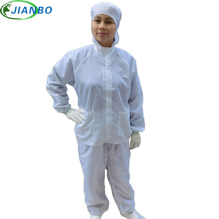 Anti-Electrostatic Protection ESD Cleanroom Workshop Zipper Cleanness Decontamination Hooded Suits Protective Painting Clothes 500 grams about 750pcs milky latex rubber powder free working protective finger sets anti cutting cleanroom esd work gloves