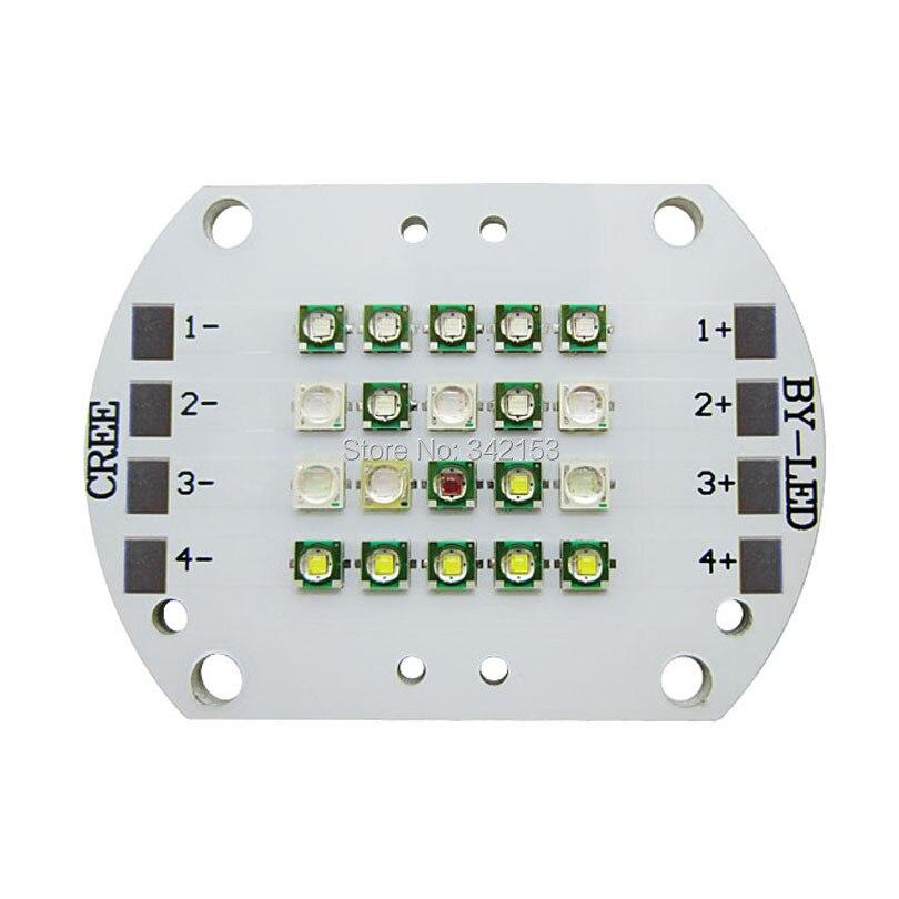 DIY Cree XPE XP E White 10000K Royal Blue 455NM Blue 470NM Red 620NM Epileds UV 400NM 420NM Cyan 495NM Led Modules Fish Lamp-in LED Modules from Lights & Lighting    2