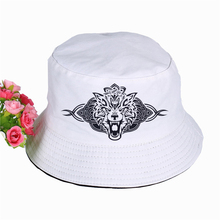 2019 new The Wolf Print Hat Women Mens Panama Bucket Hat The Wolf LOGO Design Flat Sun Visor Fishing Fisherman Hat цена 2017