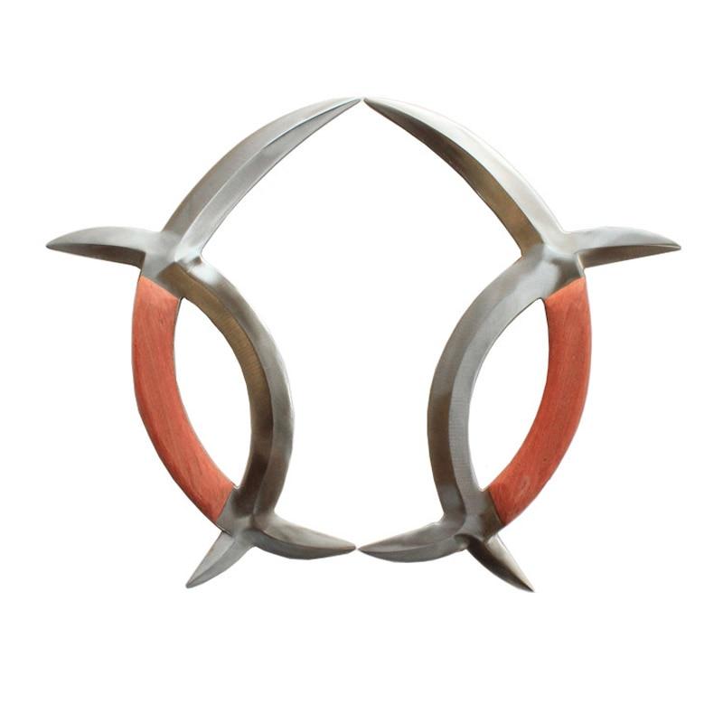Meridian Mandarin Duck Tomahawk Stainless Steel Double Tomahawk  Chinese Wushu Weapon