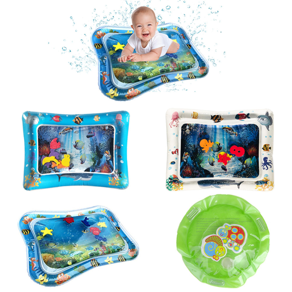 Baby Gyms Crawling Water Mat Inflatable Play Pat Playmat Toddler Pad Baby Cushion Play Water Cushion Pad For Newborn Dropship