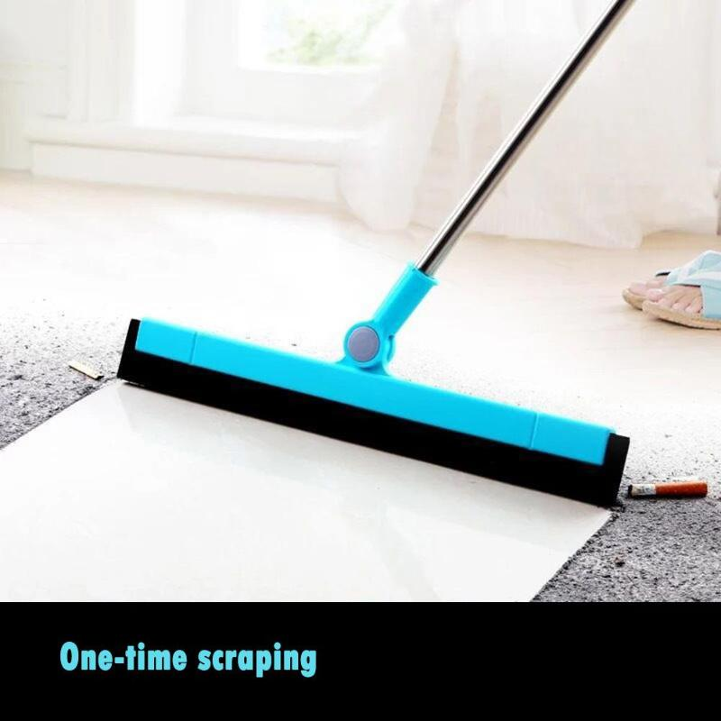 Magic Window Wiper Scraper 180 Degrees Rotatable Hand Push Mop Sweeper Broom Home Floor Windows Cleaning Tools