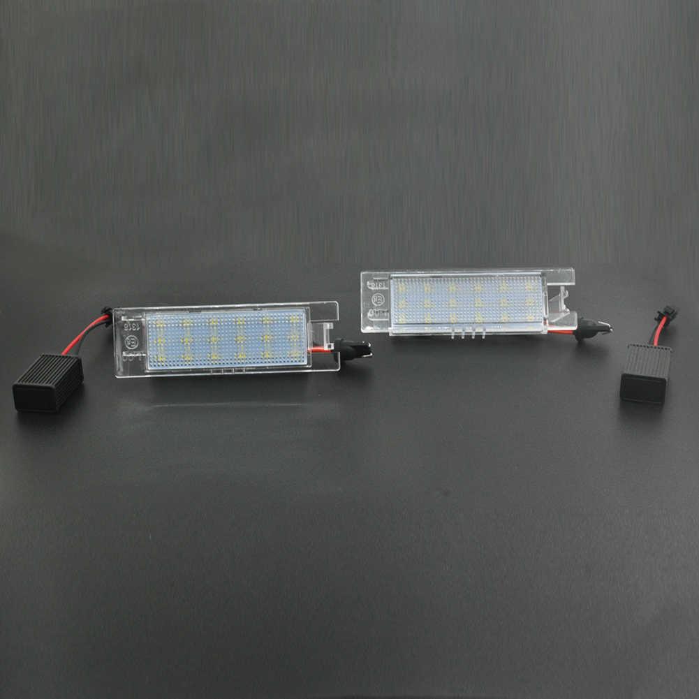 2 ピース/セット Led の車のナンバープレートライトランプ電球 Vauxhall オペルコルサ C D アストラ H J ベクトラ長期的な耐衝撃