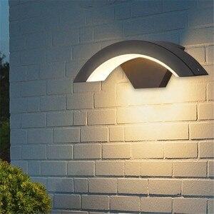 Image 1 - Luminária led de parede impermeável, de alumínio fundido, para parede de jardim e casa