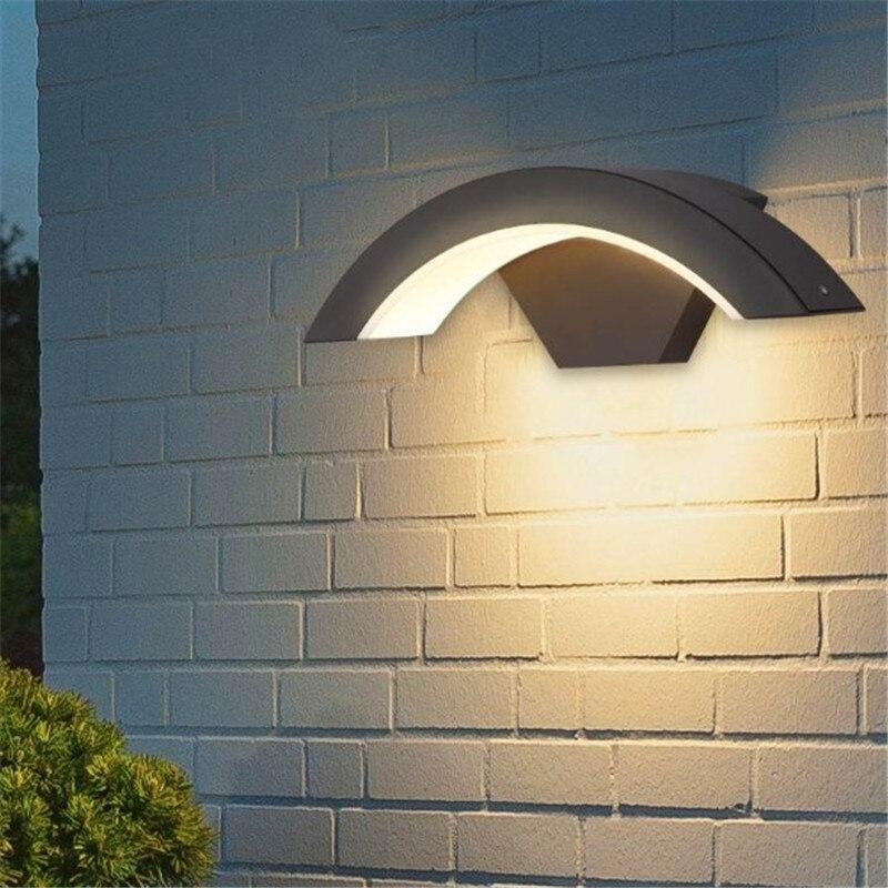 Outdoor Tahan Air Lampu Dinding Led Die Cast Aluminium Lampu Dinding Taman Rumah Sconce Dinding Lampu Lampu Dinding Luar Aliexpress