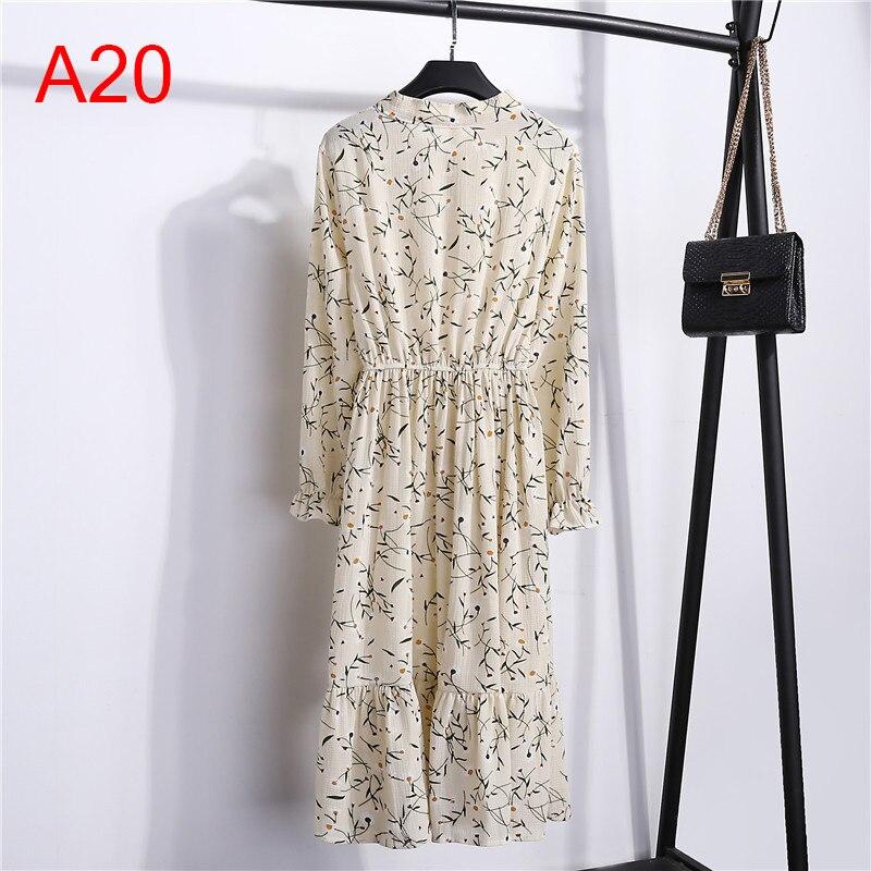 Korean Black Shirt Vestidos Office Polka Dot Vintage Autumn Dresses Women Winter Dress 19 Midi Floral Long Sleeve Dress Female 65