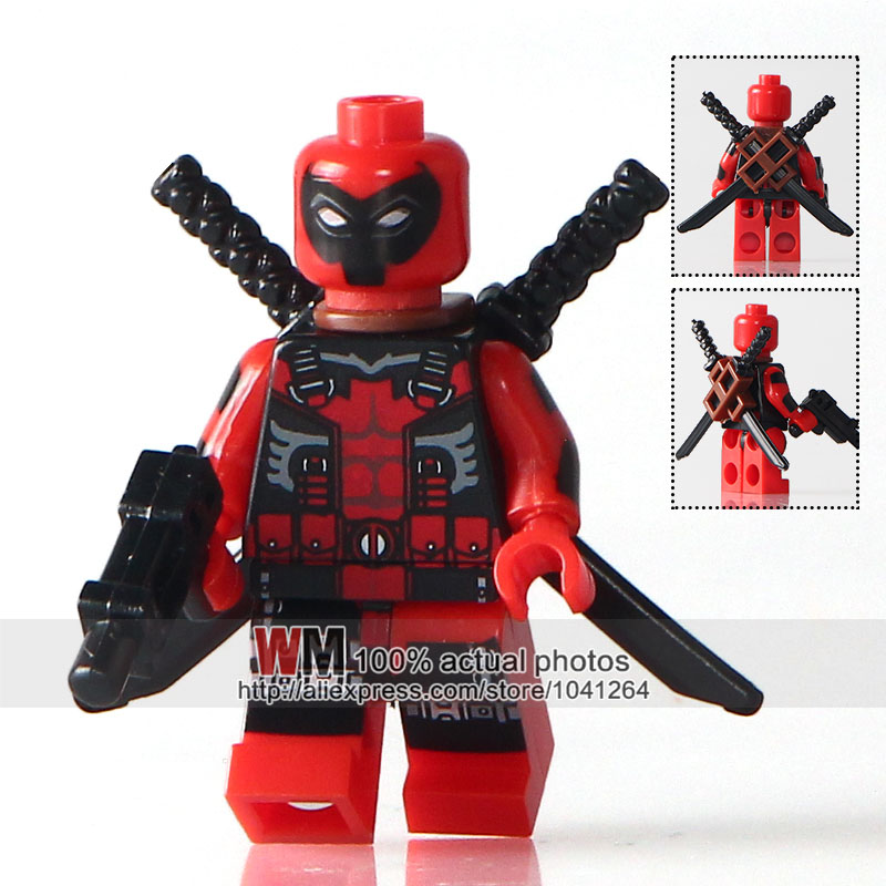 Model Building Dutiful Wm Building Blocks 20pcs/lot Pg206 Ultimate Red Deadpool Marvel Super Hero The Avengers Bricks Kids Diy Toys Pg8057