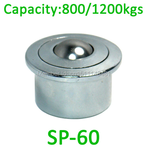 2pcs Ahcell SP-60 Heavy Ball transfer unit 1200kg load capacity caster SP60 Euro type ball unit conveyor bearing Steel Roller 4pcs m12 thread bolt rod fix mount ball caster machined solid steel robot ball roller conveyor wheel ksm 25fl ball transfer unit