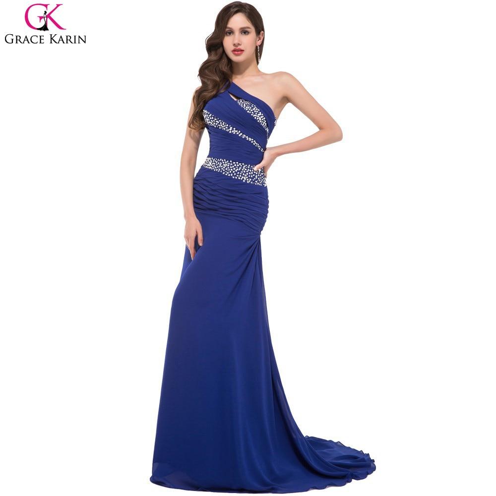 buy robe de soiree long mermaid evening dresses grace karin one shoulder formal. Black Bedroom Furniture Sets. Home Design Ideas