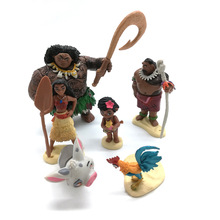 Moana princess toy 6 pcs / set fairy tale vaiana boneca  cosplay adventure model cartoon movie moana doll Action Figure gift