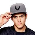 Perfurado de alta qualidade de lã cinza snapback 3d bordado cap hip hop conta plana boné de beisebol para homens e mulheres