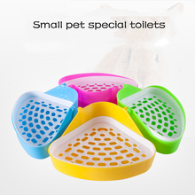 AHUAPET Guinea Pig Rabbit Toilet Hamster Chinchilla Bath Supplies Potty Urinal Squirrel Cleaning Random Color Pet Litter