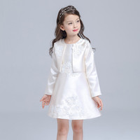 Light Pink Formal Girl Dress Long Sleeve Christmas Girl Party Costume For 3 4 6 8 10 12 14 Year Old 2019 Girls Clothes AKF164113