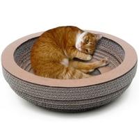 Round Bowl Cat Scratcher Fat Cat Bed Round 39cm Diameter Cardboard Paper High Quality Cat Toy