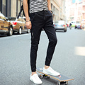 Men's casual pants  fashion  Slim beam leg trousers The trend of large size adding fertilizer  men's clothing