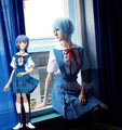 Blue Halloween Japanese Anime Neon Genesis Evangelion EVA Cosplay Costume Ayanami Rei Soryu Asuka Uniform