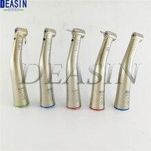 LED óptico de fibra Dental de alta calidad 1 uds/Pieza de mano de baja velocidad contraángulo de fibra óptica 1:1 1:5 20:1 Deasin