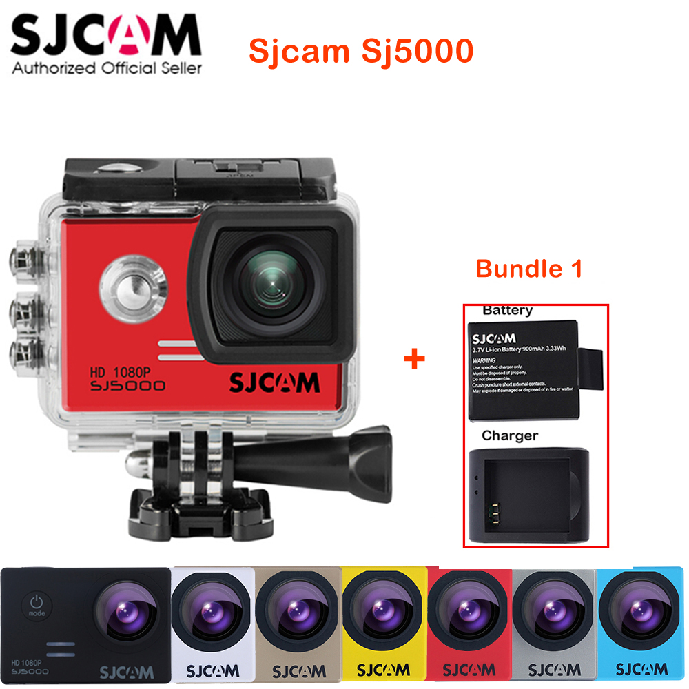 100% Original SJCAM SJ5000 Outdoor Action Sports Camera 30M Waterproof Underwater Sj 5000 Cam DV With a Battery and a charger лицевая панель legrand valena allure розетки с з алюминий 755207