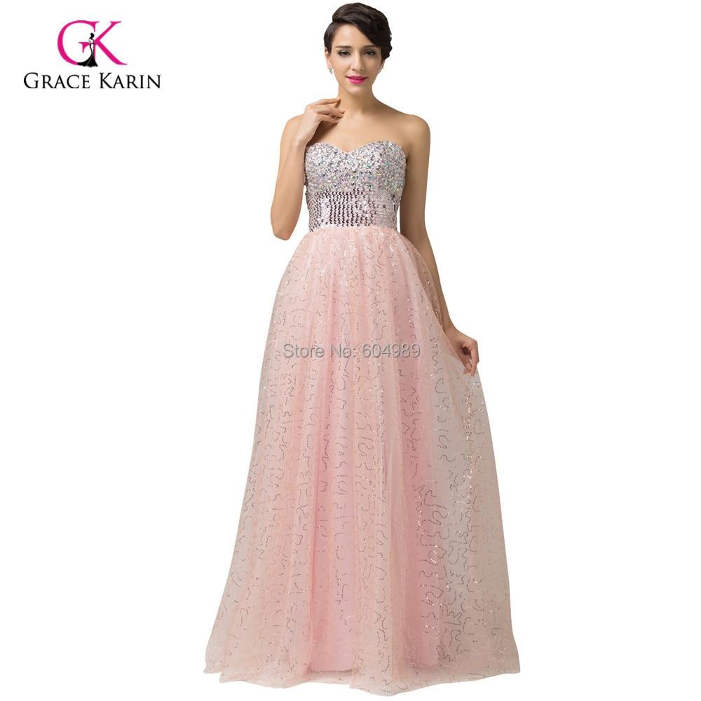 2015 la gracia Karin blanco / rosa / albaricoque lentejuelas vestido ...