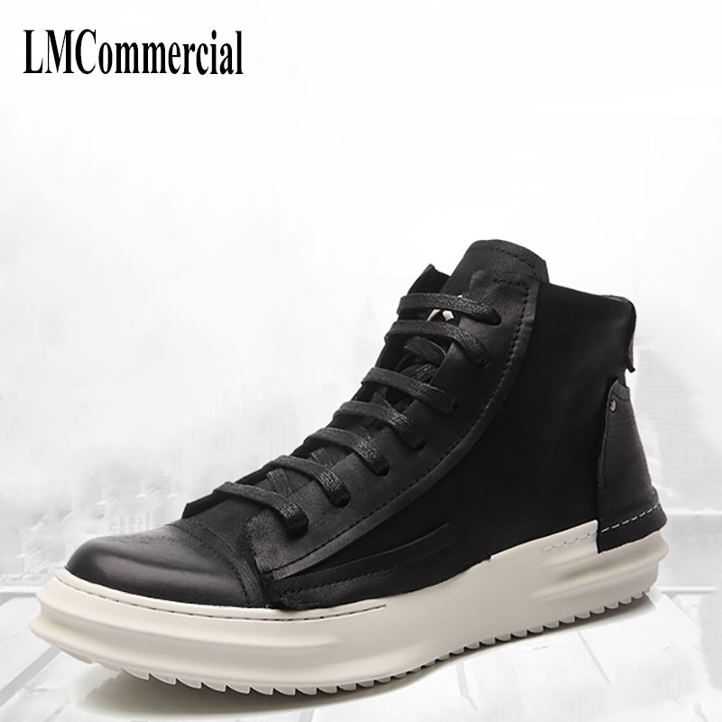 men's casual shoes boots New England leather shoes for Korean low tide all-match black cowhide breathable Leisure shoes boots spring 2017 bullock carved casual shoes men shoes leather shoes all match korean students spiritual breathable sneaker fashion