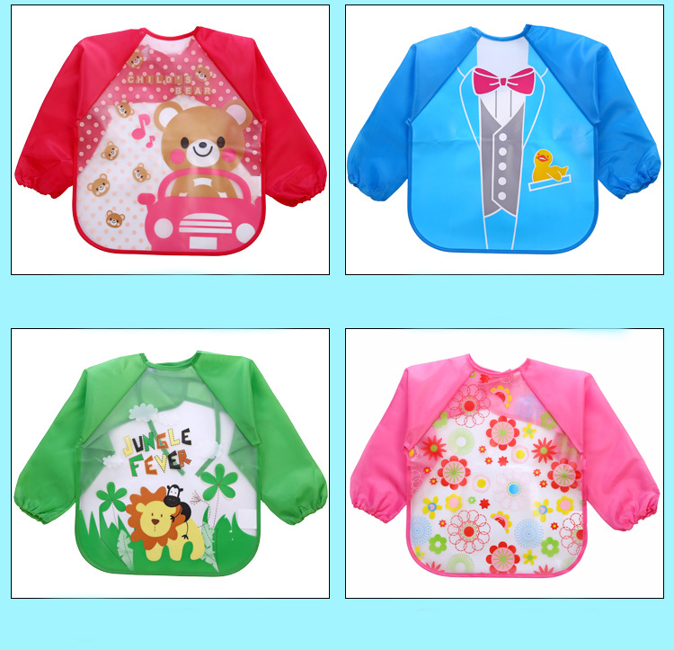 3fcaa179fce71 Feeding Lovely Girls Long-sleeves Bib Overalls Feeding Clothes Baby Bibs  Gift Sets A