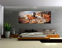 Top Artist Hand Painted High Quality Many Horses Jumping Modern Oil Painting on Canvas Wall Art Picture for Home and Hotel Decor
