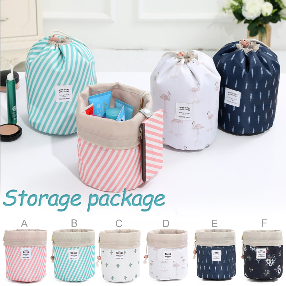Linen Home Travel Packing Drawstring Pouch Storage  Bags Makeup Brush Organizer