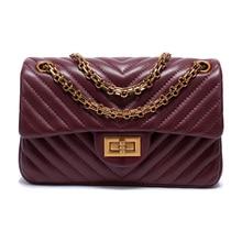 2020 luksusowa torebka z owczej skóry kobiet Messenger sac znanych marek lady Crossbody torba z prawdziwej skóry małe torebki na ramię z łańcuszkiem