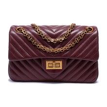 Luxury Sheepskin Handbag Women Messenger Bags Famous Brands Women Crossbody Bag Real Leather Small Flap Chain Shoulder Bags