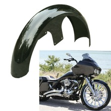 Motorcycle Black 26 Front Fender For Harley Touring Road King Electra Street Glide Custom Baggers FLHT FLHX FLHR FLTR NEW front batwing upper fairing cowling shell for harley davidson touring models flhr flht flhx road king electra street glide new
