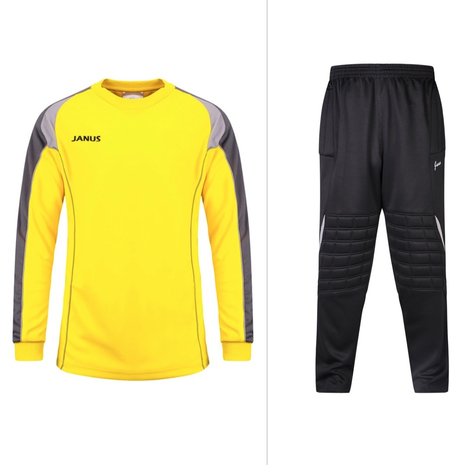 Janus 001 Men's Football Goalkeeper Clothes Suit Soccer Jerseys Top Training Suits Uniforms Sets Soccer Goalie Jersey Set for adult high elastic polyester goalkeeper sets breathable soccer goalie clothing uniforms long sleeve goalkeeper jerseys