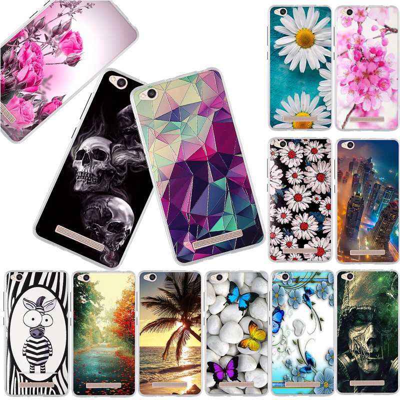 Phone Case For <font><b>Xiaomi</b></font> <font><b>Redmi</b></font> <font><b>4A</b></font> Case 5.0'' Luxury Fashion <font><b>3D</b></font> Painted TPU Soft Silicone Cover For <font><b>Redmi</b></font> <font><b>4A</b></font> 4 A Back Cover Fundas image