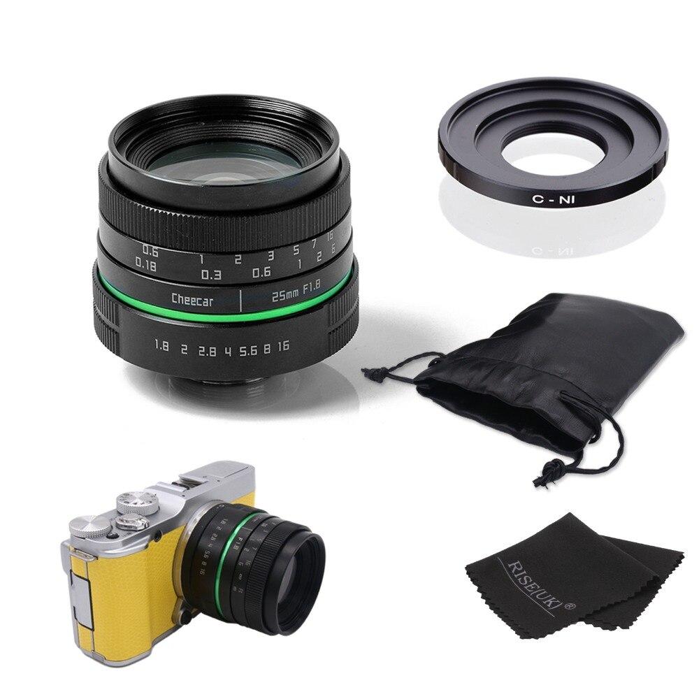 Новый зеленый круг 25 мм объектив камеры видеонаблюдения для Nikon1: V1, J1, V2, J2 с переходным кольцом c N1 + сумка + подарок