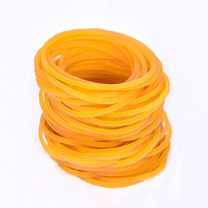 100pcs/Bag 38*1.4mm High Quality Yellow High Temperature Resistant Rubber Band Cowhide Office Stationery Clip Rubber Band