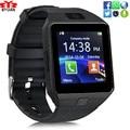 En stock dz09 dispositivo portátil bluetooth smart watch cámara de la ayuda sim tf tarjeta de teléfono de pulsera reloj del deporte del reloj multi-idioma