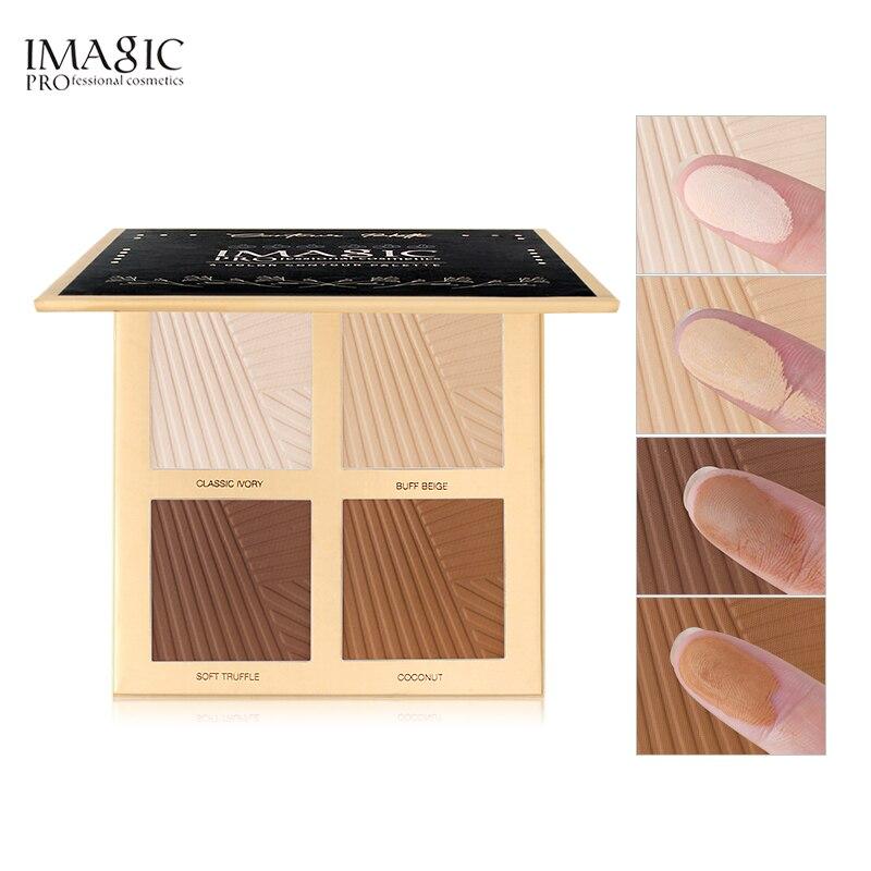IMAGIC natural em pó fundação de controle de óleo corretivo maquiagem branqueamento pó branco brilhante 4 cores