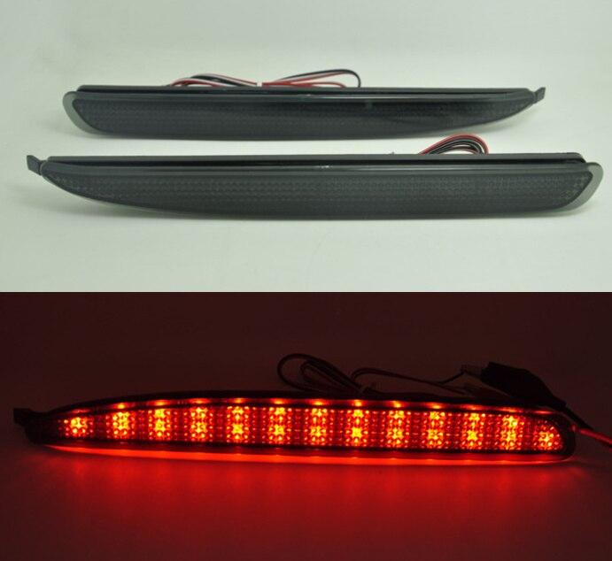 For Mazda 6 Black Smoke Reflector LED light Guide back Tail Rear Bumper Brake lamp