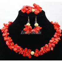 Smart Coral Beads Bridal Jewelry Sets African Nigerian Wedding Beads for Women Jewelry Set Choker Necklace Free Shipping CJ689