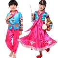Crianças Mesa de Palco de Dança Trajes Étnicos Tradicional Hanbok Coreano Coreano Hanbok Coreano Mulheres Vestido Hanbok Menina Hanbok Vestido
