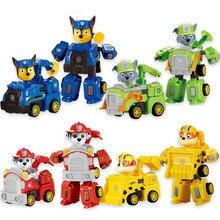 Paw Patrol dog Deformation car Patrulla Canina toys Action Figures Model  Vehicle Car kids toy gift