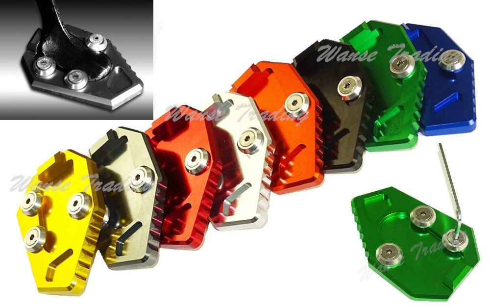 waase Kickstand Foot Side Stand Extension Pad Support Plate For HONDA CB1000R CB 1000 R 2008 2009 2010 2011 2012 2013 2014 2015