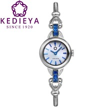 KEDIEYA Womens Luxury Zircon Diamond 50M Waterproof  Quartz Watches Ladies Bracelet Watch Best Gift
