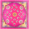 90cm * 90cm Spring new small monster eyes ladies simulation silk scarf square