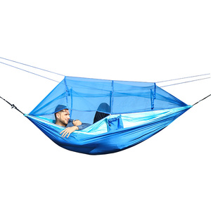 Image 2 - Outdoor Mosquito Net Hammock High Strength Can Hold 200kg Netting Hamac Hanging Chair Sleeping Tree Bed Hunting Climbing Hamak