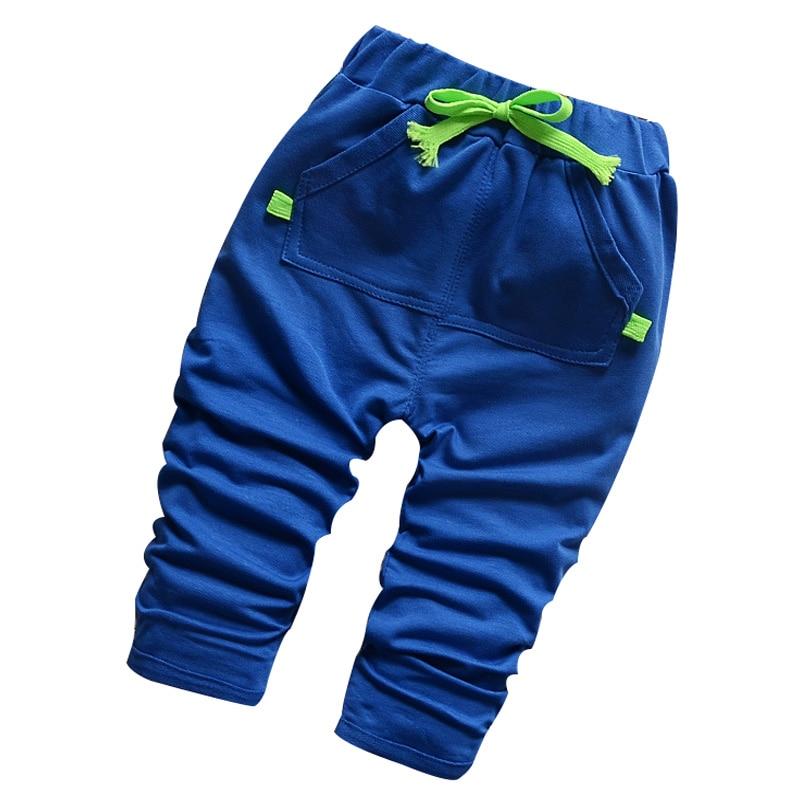 2016 Neue Frühling 100% Baumwolle Hohe Qualität Korean Fashion Kinder Pluderhosen 1-4 Jahre Kinder Hosen Für Baby Boy Mädchen Hosen Elegante Form