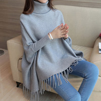 Fashion Women Sweater High Elastic Solid Turtleneck Sweater Women Slim Bottoming Knitted Pullovers