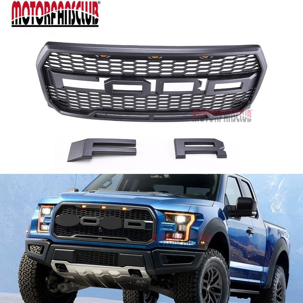 Replacement 2015 2016 2017 raptor style grill kit for ford f 150 raptor conversion letter