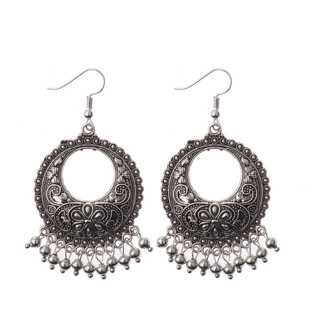 eeba38d35 DOUVEI Indian Jewelry Dangle Earrings Party Gift Quality Antique Silver  Plated Rhinestone Classic Drop Earrings For Women HQE471